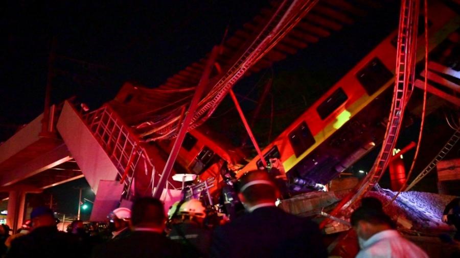 مقتل 15 شخصاً وإصابة نحو 70 آخرين في حادث مترو في مكسيكو