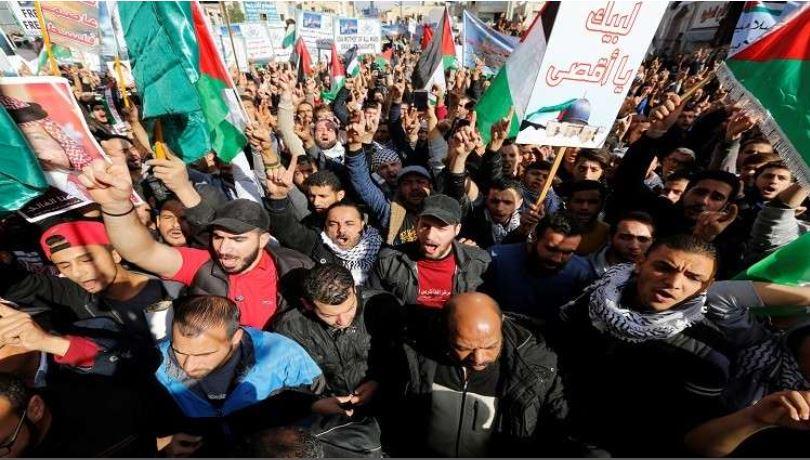 المظاهرات الشعبية تعم الاردن نصرة لفلسطين والمقاومة