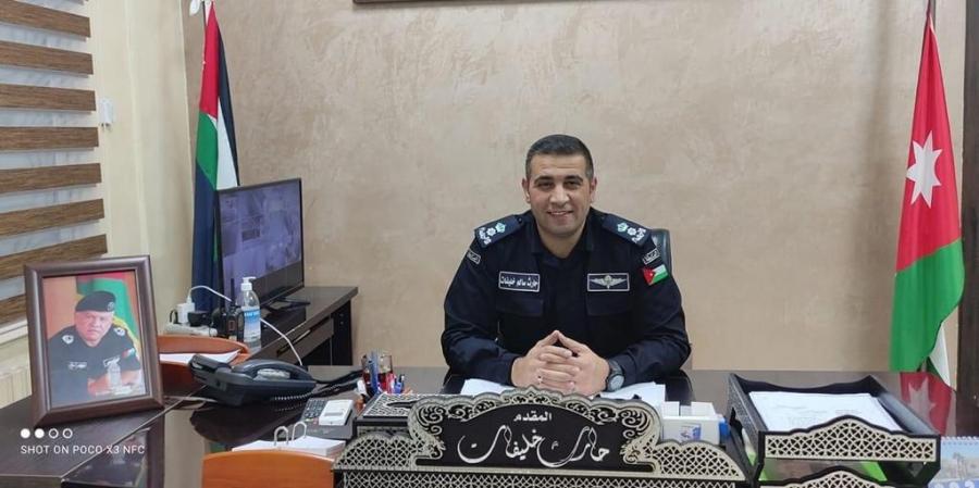 المقدم حارث خليفات مبارك الترفيع