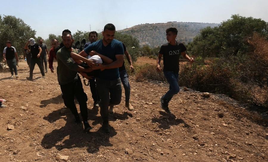 إصابة 320 فلسطينيا في بيتا جنوب نابلس