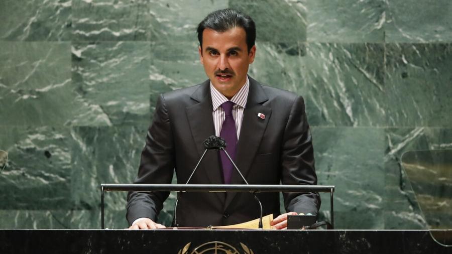 أمير قطر يتحدث من منبر الأمم المتحدة عن العلاقات مع الأشقاء في الخليج