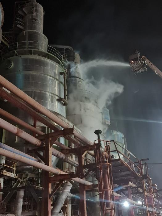 السيطرة على حريق بسيط شب في مصنع البوتاس