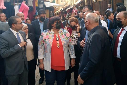 وزيرة الثقافة المصرية في السلط
